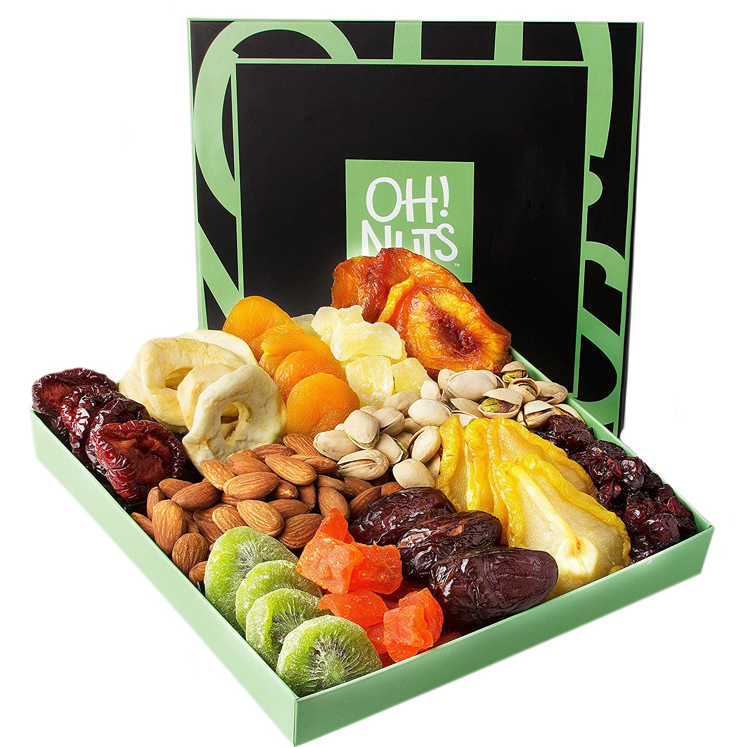 Holiday Nut and Dried Fruit Gift Basket, Healthy Gourmet ...