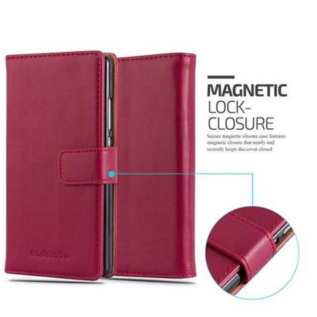 Cadorabo Case for Huawei P8 cover - with Magnetic Closure, Stand Function and Card Slot - image 3 de 5