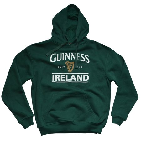 Guinness Pullover Hoodie With Guinness Logo & Ireland Print