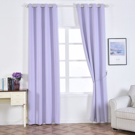 BalsaCircle 52 x 108-Inch 2 Panels Blackout Polyester Curtains Drapes with Grommet Top Home Window Treatments Decorations](Office Window Decorations)