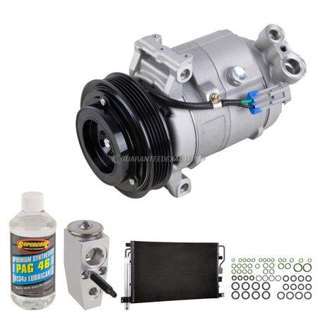 A/C Kit w/ AC Compressor Condenser & Drier For Chevy Equinox & GMC Terrain - Gmc A/c Condensers