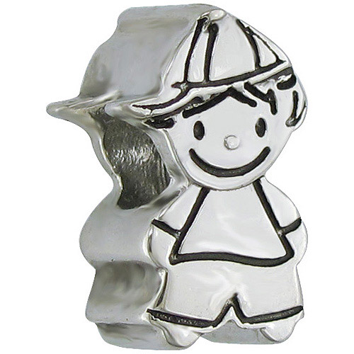 Connections from Hallmark Stainless-Steel Little Boy Charm