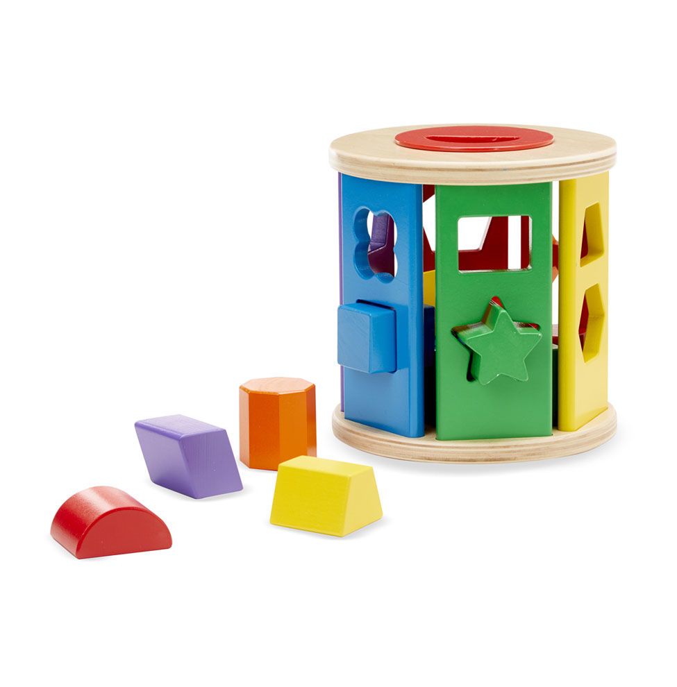 Melissa and Doug Match & Roll Shape Sorter