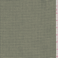 Green Houndstooth Suiting, Fabric By the Yard
