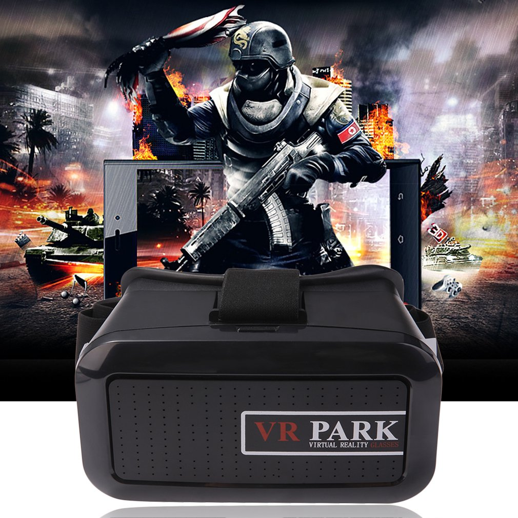 New Black 3D Movie Video Games Virtual Reality VR Glasses for 4-6 inch smart phon e~~