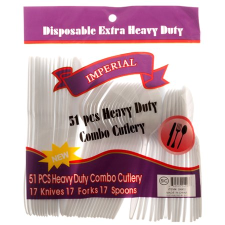 New 307819  Plastic Cutlery Combo 51Ct W / Pp (48-Pack) Party Craft Cheap Wholesale Discount Bulk Party Supplies Party Craft Fix Patch Kit - Cheap Party Supply