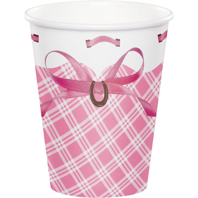 Party Creations Heart My Horse Hot/Cold Cups, 9 Oz, 8 Ct