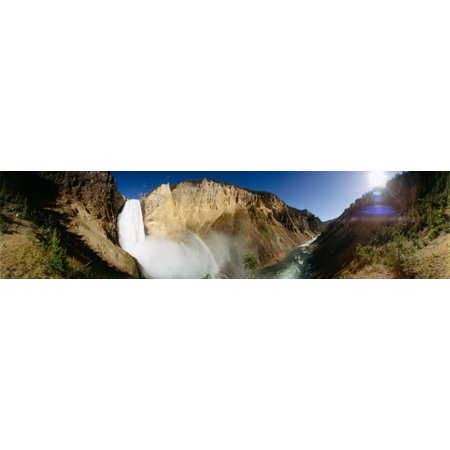 View of the Lower Yellowstone Falls Yellowstone River Yellowstone National Park Wyoming USA Poster Print