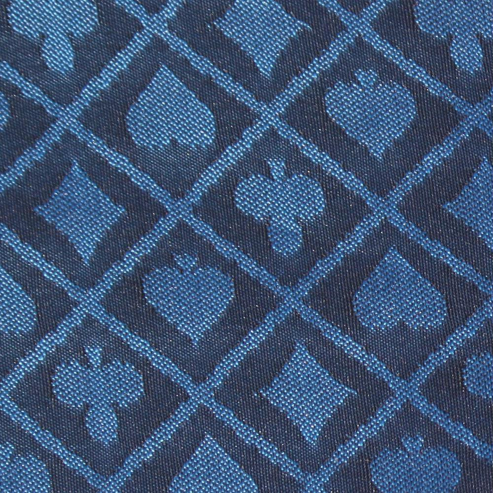 1 Ft Section of Blue Two-Tone Poker Table Speed Cloth by