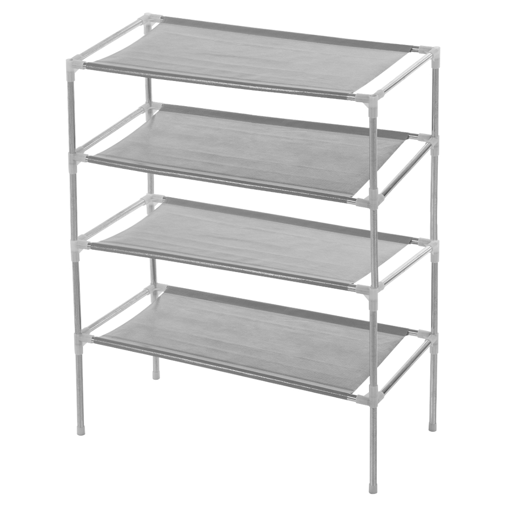 Multi-tiers Shoe Rack Stand Sturdy Shelf Storage Organizer(4 tiers)