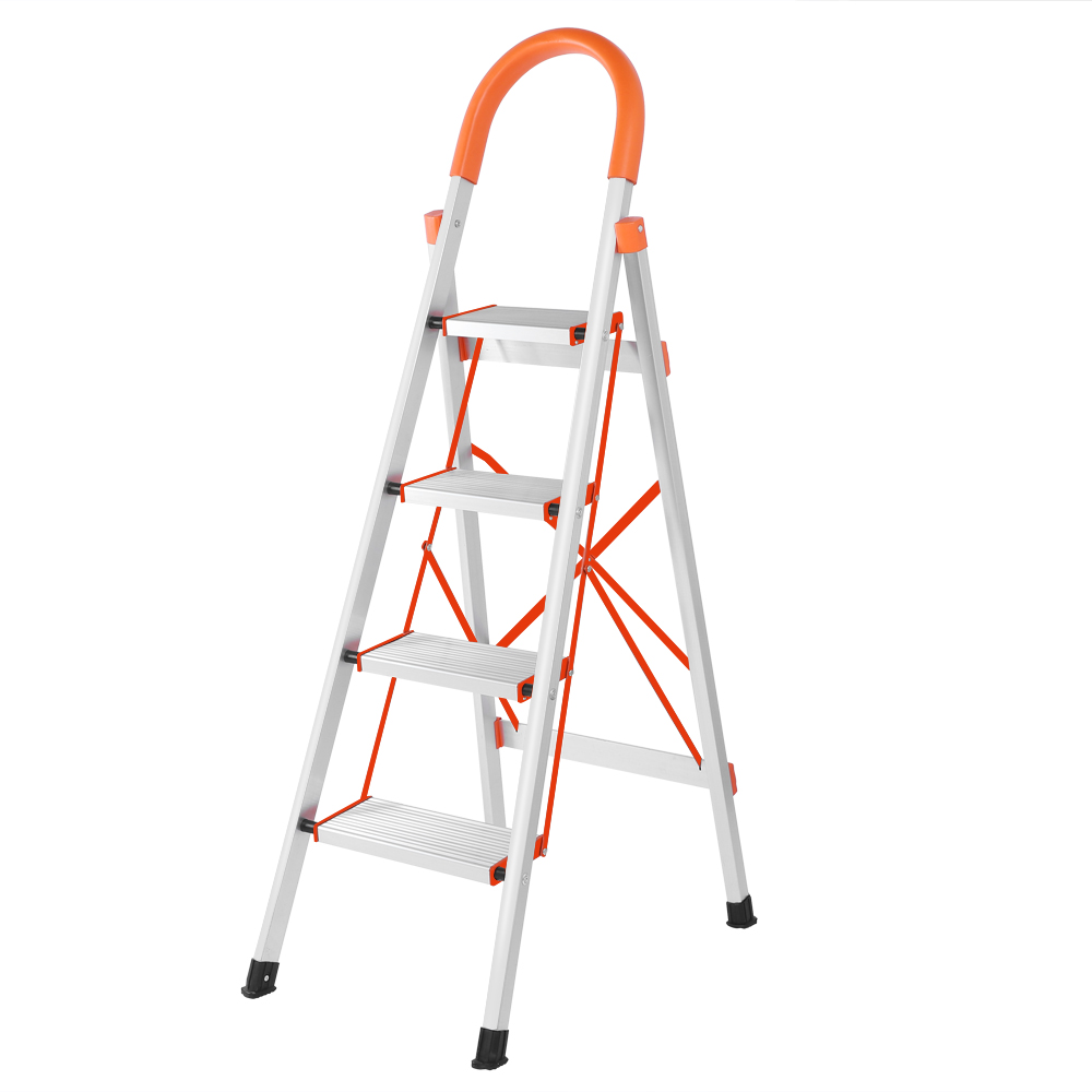 Ktaxon 4 Aluminum Step Ladder, Folding Lightweight Multi Purpose Step Stool