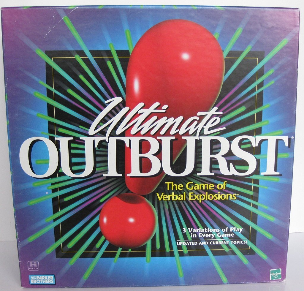 Ultimate Outburst the Game of Verbal Expressions 1999 By Hasbro by