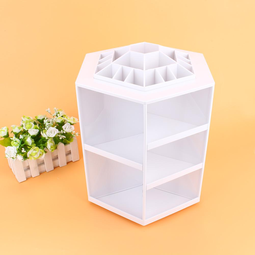360° Rotating Cosmetic Organizer Makeup Display Storage Case Spinning Rack Gifts,Storage Case(3 Colors Optional)