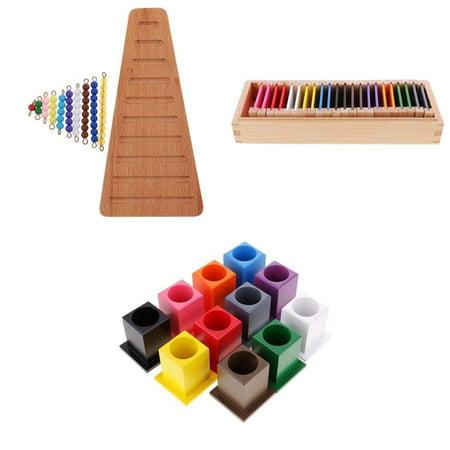 Homyl Montessori Materials Toy Kids Preschool Math Color Learning Educational Toys