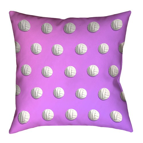 East Urban Home Ombre Volleyball 100pct Cotton Euro Pillow