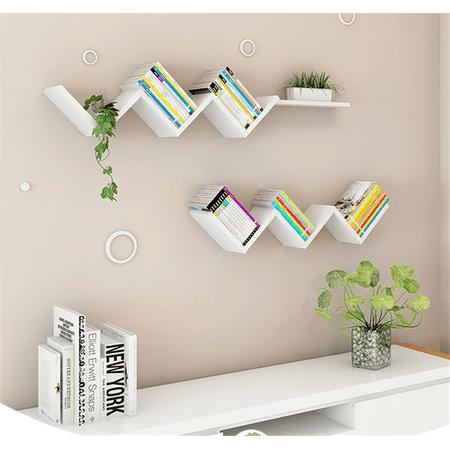 HURRISE Creative Wall Book Shelf,Modern Fashionable Floating Wall Shelf,White - image 7 de 7