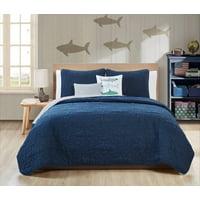 VCNY Home Blue Finn 4/5 Piece Bedding Quilt Set