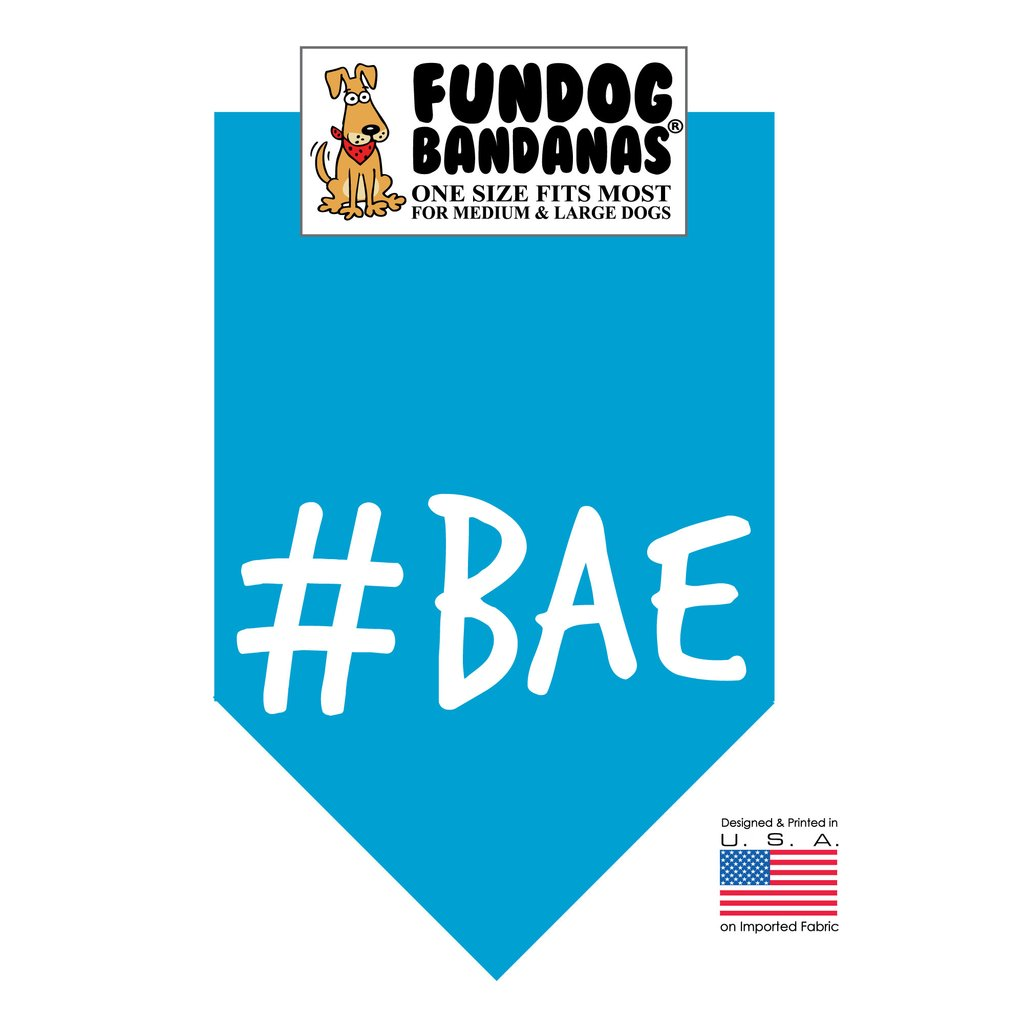 Fun Dog Bandana -#BAE - One Size Fits Most for Medium to Large Dogs, turquoise pet scarf