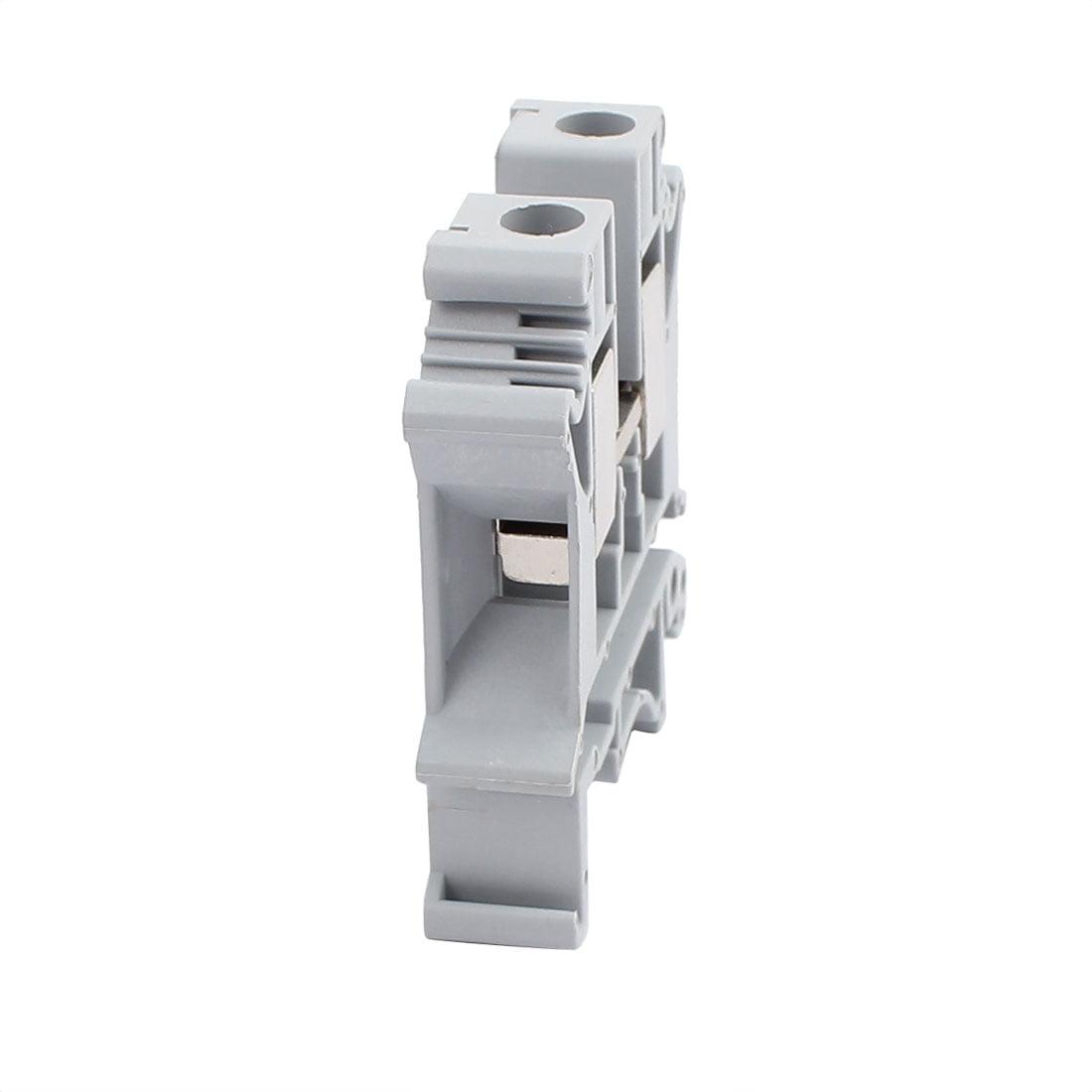 2Pcs UK-10N Guide Montage Rail DIN 800V Bornier 76A 10mm2 Cable Gray - image 1 de 2