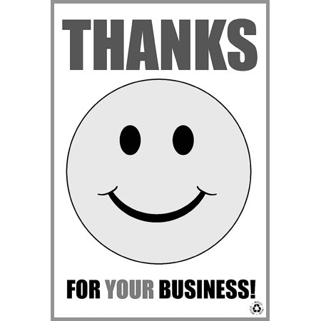 Happy Smile Face Thanks For Your Business Black And White Disposable Paper Floor Mats No Dirt Foot Print For Commercia