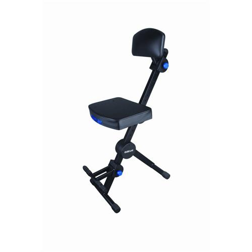 Quik-Lok DX-749 Height Adjustable Musicians Stool with Adjustable Footrest and Backrest by