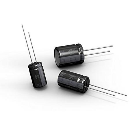 50v Radial Mini Electrolytic Capacitor (220uf 50V Radial Lead Electrolytic Capacitor, 85deg C, 10 x 16mm (6 pieces) -)