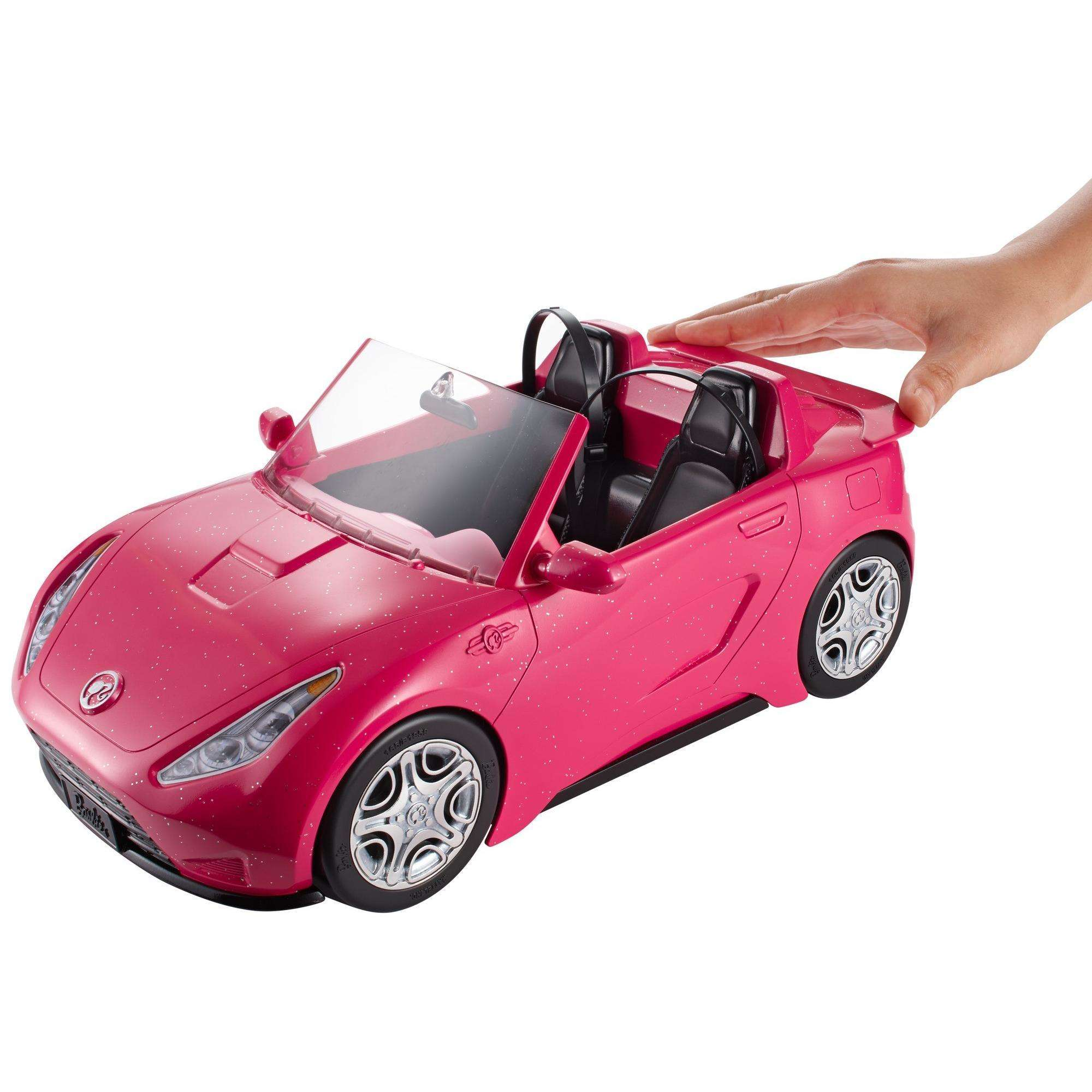Barbie Estate Play Vehicle Signature Pink Convertible With Seat Belts Walmart Com Walmart Com