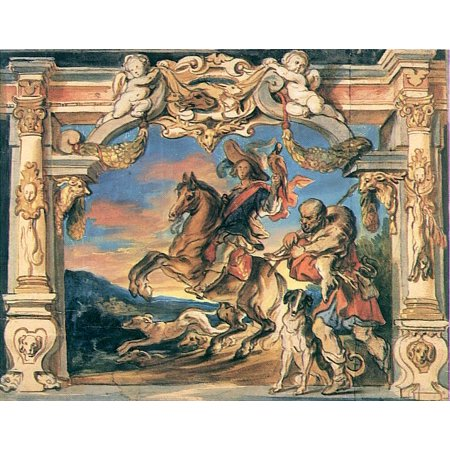 - Framed Art for Your Wall Jordaens, Jakob - Scenes from Country Life, riders returning from the hunt 10 x 13 Frame