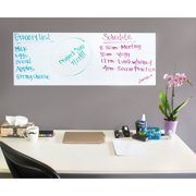 White Board Paper – 2-Pack Peel and Stick Dry Erase Sheets, Self-Adhesive Whiteboard Rolls for Home, School, and Office, White, Large, 78 x 17.5 inches