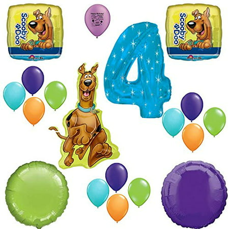 Scooby Doo Party Supplies 4th Birthday Party Balloon Decoration Kit - Scooby Doo Birthday Party Supplies