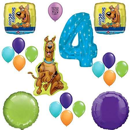 Scooby Doo Party Supplies 4th Birthday Party Balloon Decoration - Scooby Doo Birthday Supplies