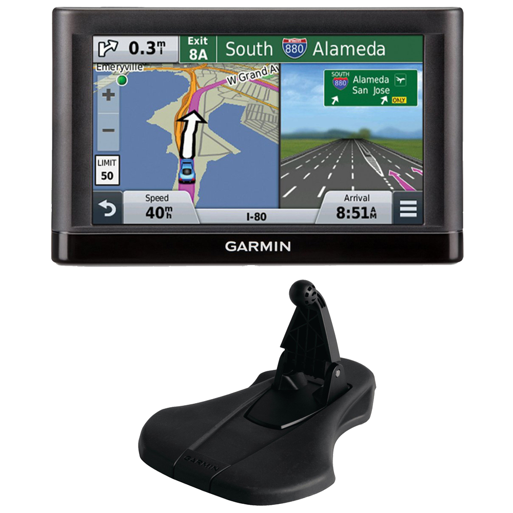 "Garmin nuvi 55LM Essential Series GPS System w/ Lifetime Maps and Garmin Friction Mount Bundle includes: nuvi 55LM Essential Series GPS Navigation System with Lifetime Maps 5"" Display (010-01198-01),"