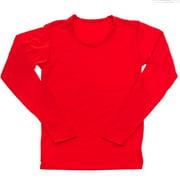 NEW Womens Fleece Lined Long Sleeve Thermal Top Tee T-Shirt