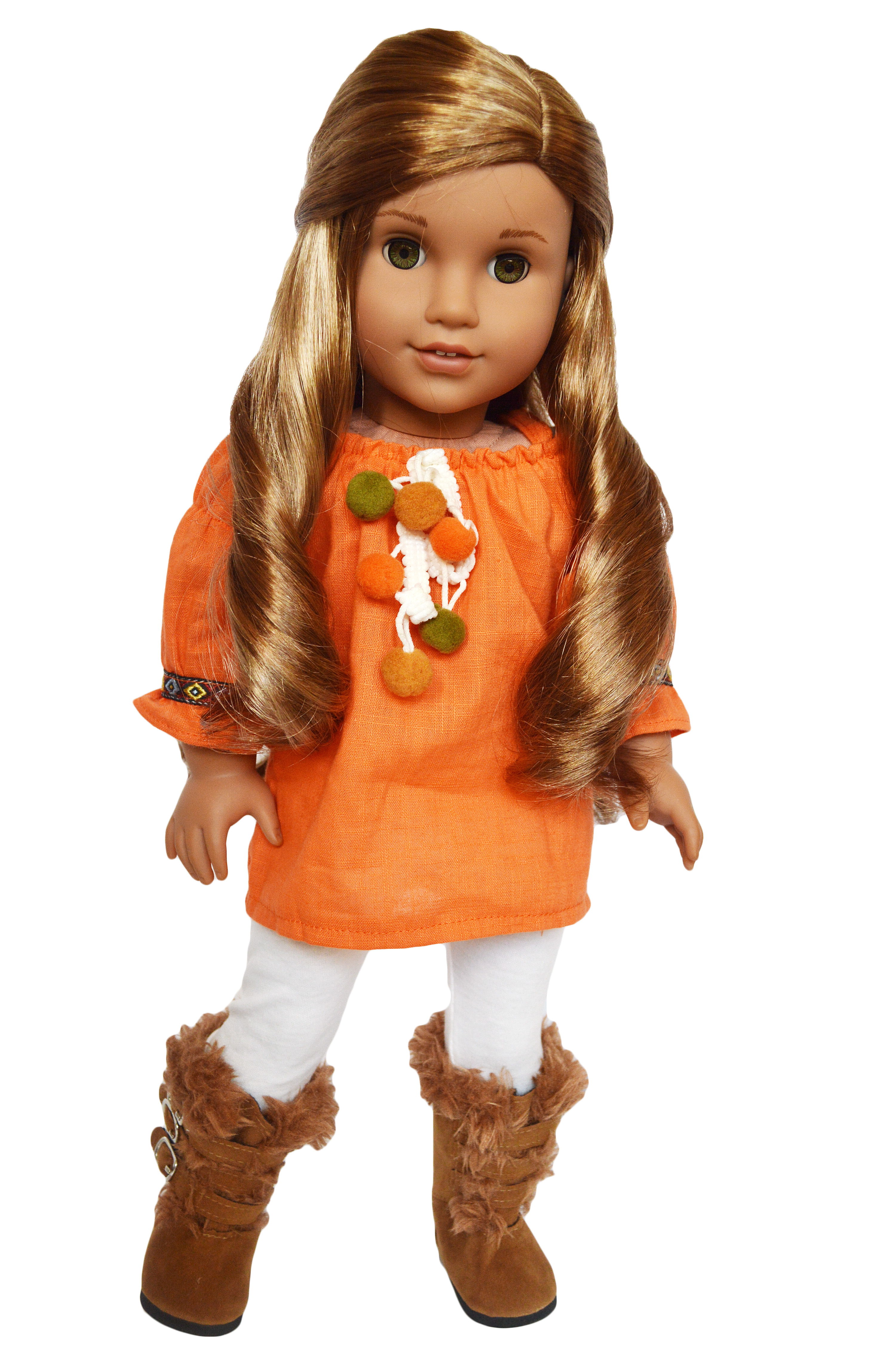 c8a395a379d3 My Brittany's Pumpkin Spice Outfit for American Girl Dolls- 18 Inch Doll  Clothes- Fits American Girl Dolls and My Life as Dolls - Walmart.com