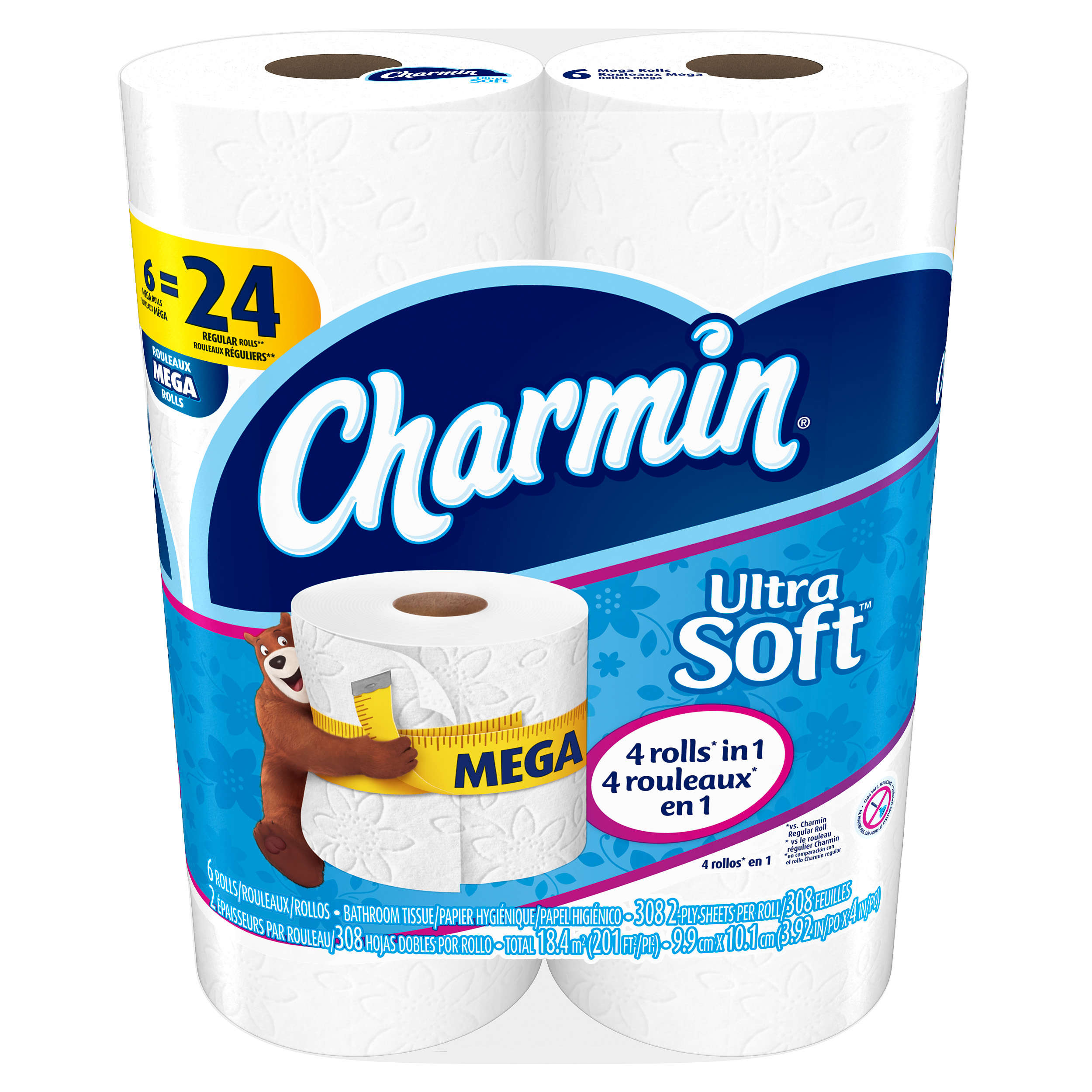 Charmin Ultra Soft Toilet Paper 6 Mega Rolls