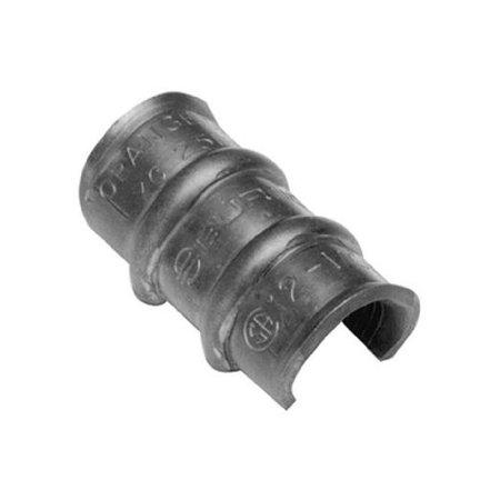 "Burndy YC3L12 Thin-Wall Copper C-Tap, 5, 4, 3 Accommodates Run, 6-5, 12-6 Accommodates Tap, 1.18"" Length"
