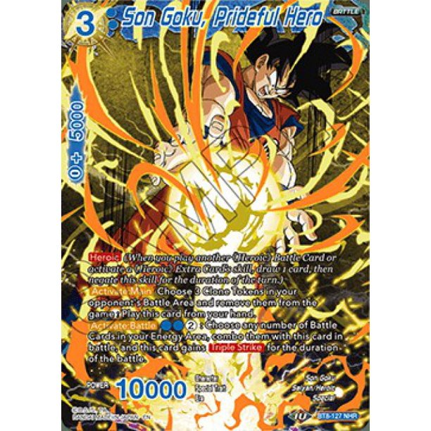 Dragon Ball Super Malicious Machinations Son Goku, Prideful Hero BT8-127
