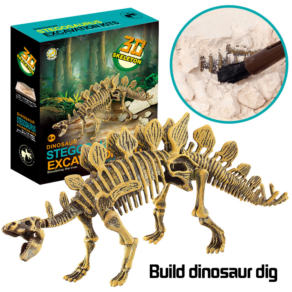 Iuhan Dinosaur Toys Science Educational Dig Kit, Dinosaur Fossil Excavation Kits by
