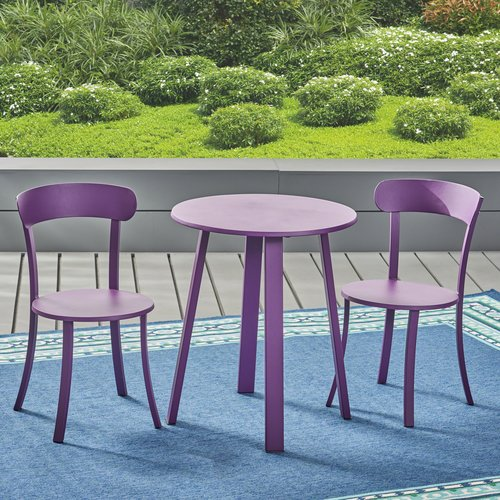 Turn on the Brights Avery 3 Piece Bistro Set