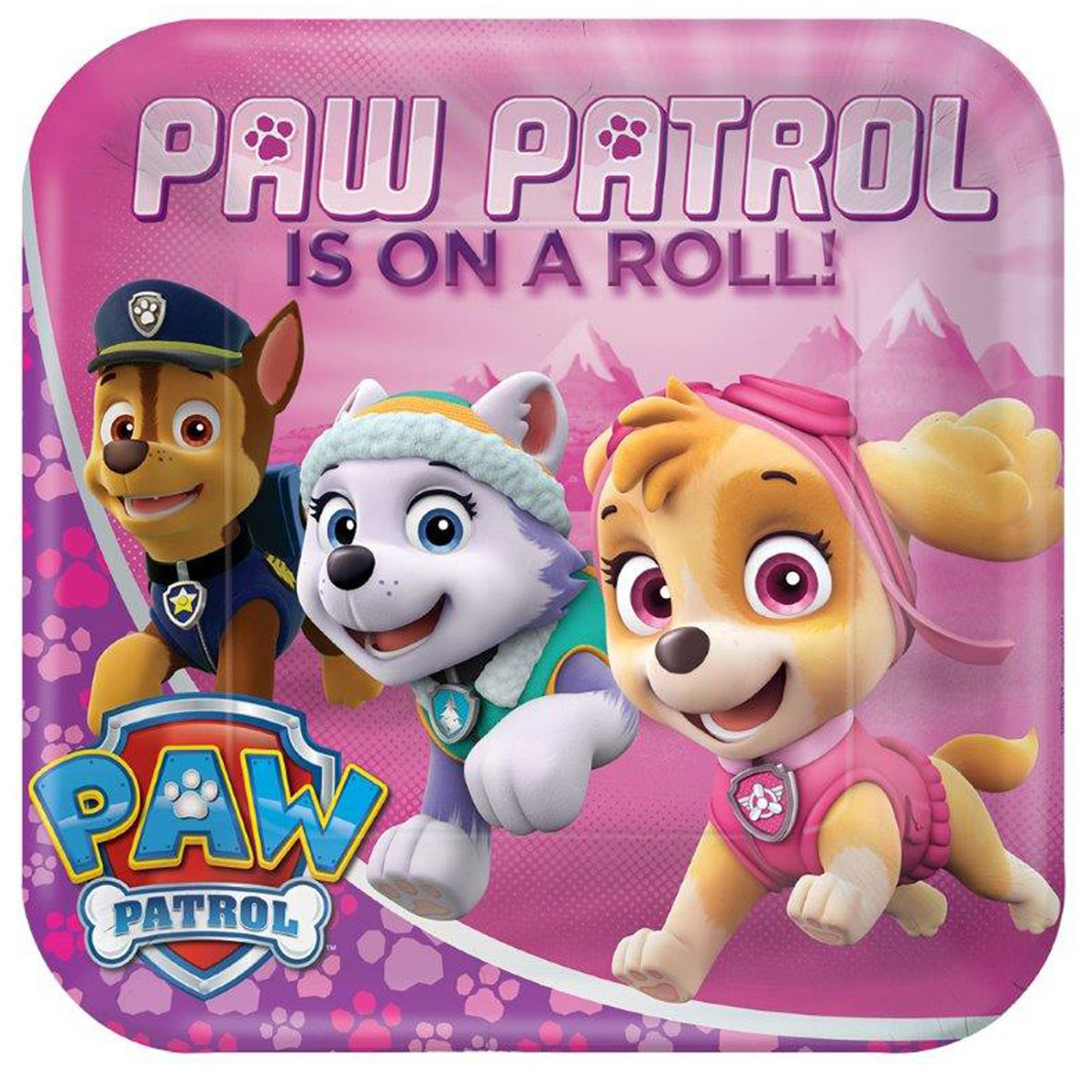 Paw Patrol Party Supplies 24 Pack Lunch Plates