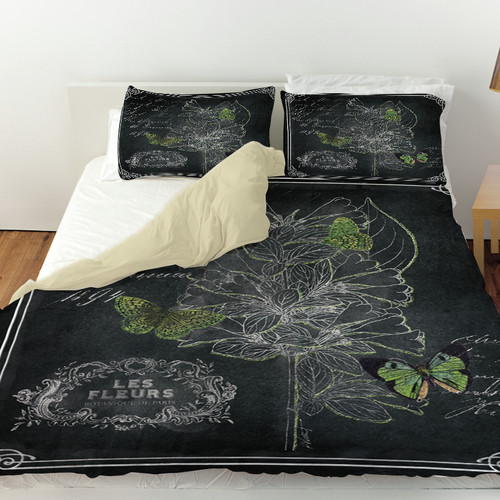 Manual Woodworkers & Weavers Chalkboard Botanical Duvet Cover