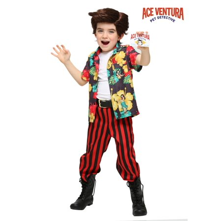 Ace Ventura Costume with Wig for - Toddler Wigs