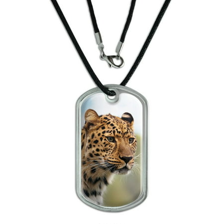 Leopard Portrait   Big Hunting Cat Dog Tag