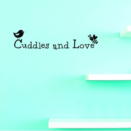 Custom Decals Cuddles And Love Wall Art Size: 16 X 40 Inches Color: (Cuddle Buddies Wall)