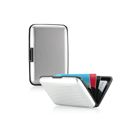 Metal Business Card Case Holder - Aluminum Pocket Business ID Credit Cards Wallet Holder Case Metal Box