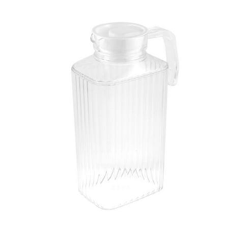 (Unique Bargains Plastic Stripes Pattern Cooling Cooler Water Pitcher Drink Holder 2000ml)