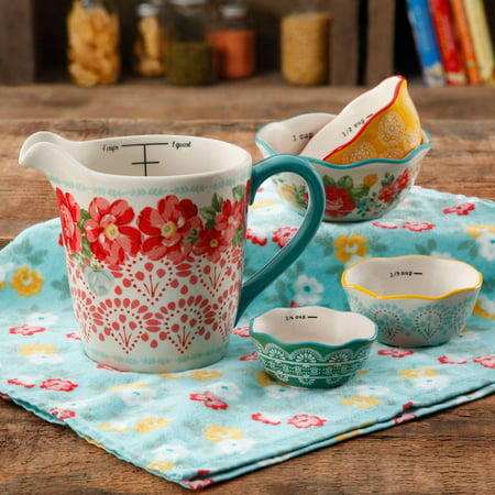 The Pioneer Woman 5-Piece Prep Set, Measuring Bowls & Cup