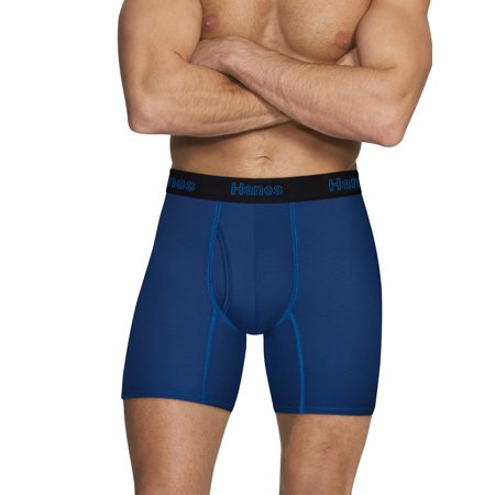 Terramar Mesh Briefs (Hanes Men's Comfort Flex Fit Breathable Mesh Boxer Brief, 3 + 2 Bonus Pack)