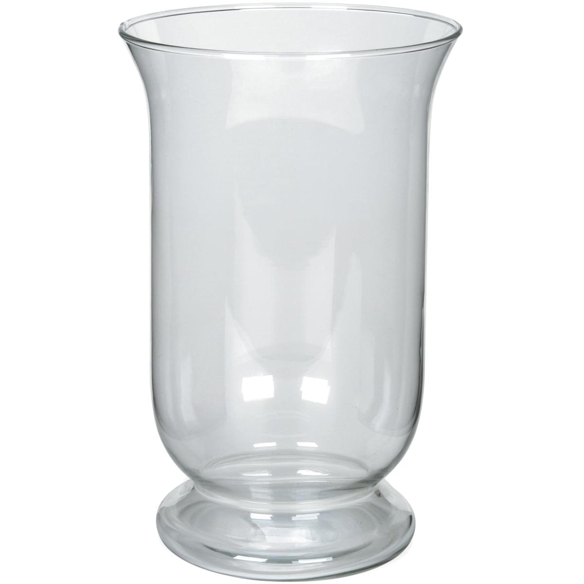 """DARICE Glass Hurricane Vase 10""""-"""
