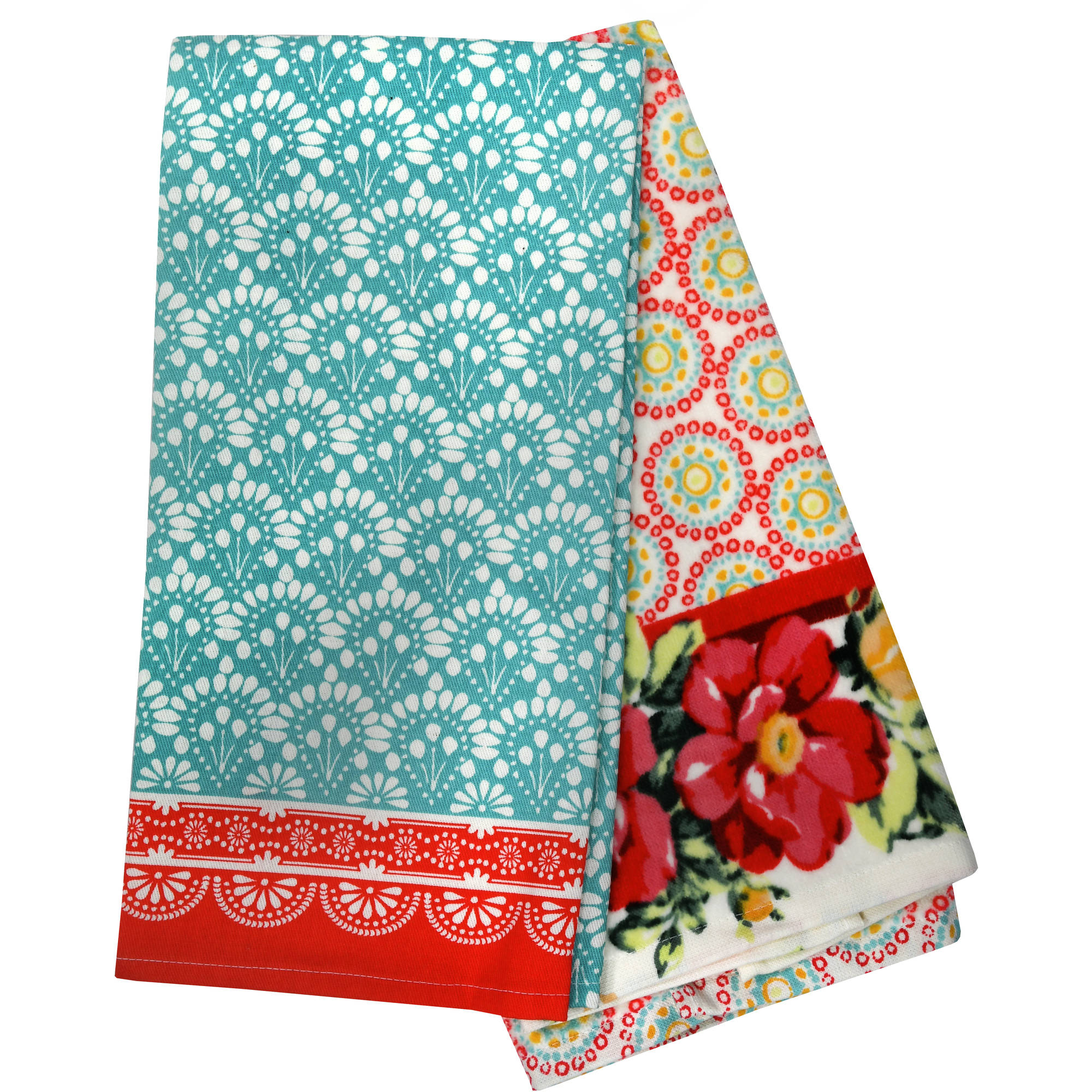 The Pioneer Woman, Vintage Floral Geo 2pk Kitchen Towel set